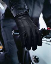 Black Lined Leather Gloves