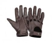 leather dark brown gloves