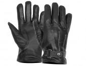 black leather moto gloves