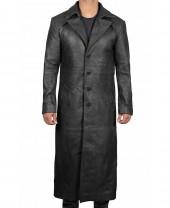long black leather coat