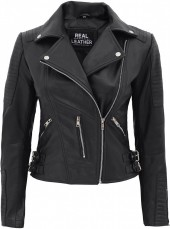 Womens Leather Black Jacket
