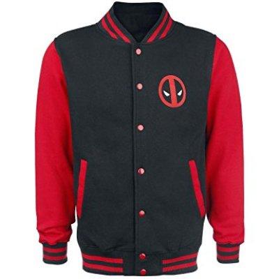 deadpool logo letterman jacket