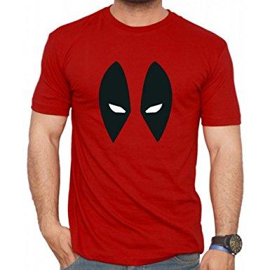 deadpool mask logo red t-shirt