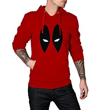 deadpool red mask logo hoodie