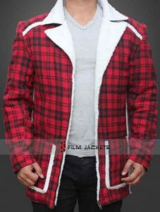 Deadpool Checkered Shearling Jacket