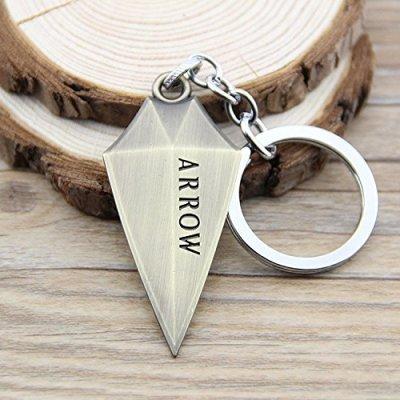 arrival-green-arrow-metal-keychain