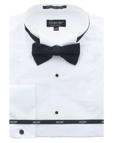 Joker White Tuxedo Shirt And Bow