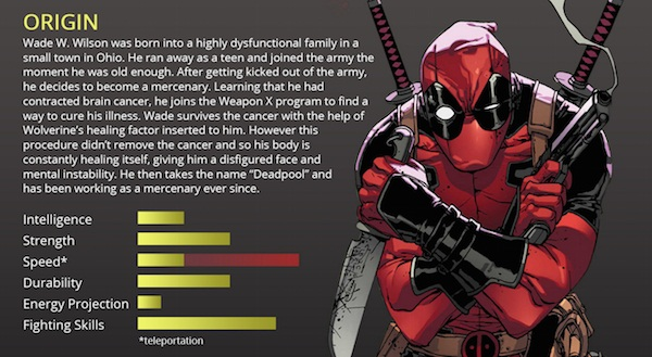 the list of fun facts about deadpool