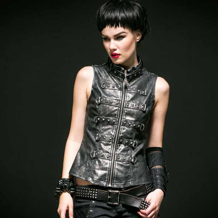 Punk-Leather-Vest