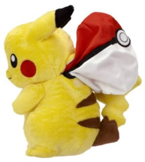 Pikachu Into Poke Ball Reversible Plush