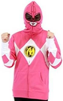 pink power ranger hoodie