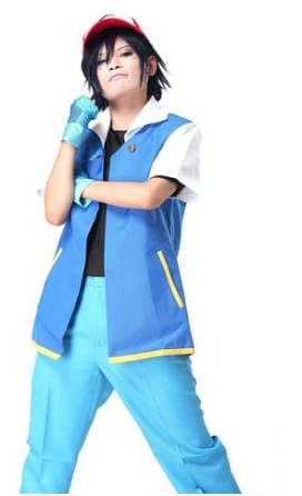 Pokemon Ash Ketchum Cosplay Costume Set
