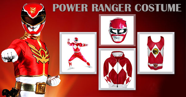Power Ranger Costume Shirt Hoodie Gloves Helmet