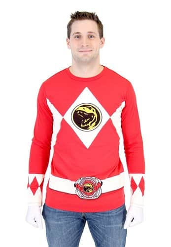 Power Ranger Long Sleeve Shirt  sc 1 st  Film Jackets & Power Ranger Costume | Shirt Hoodie Gloves u0026 Helmet