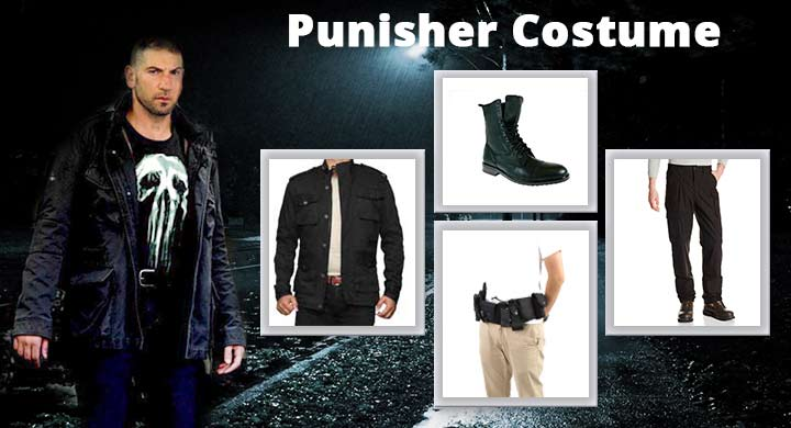 The Full Punisher Costume Guide from Daredevil  sc 1 st  Film Jackets & The Greatest Punisher Costume | Shirt and Merchandise