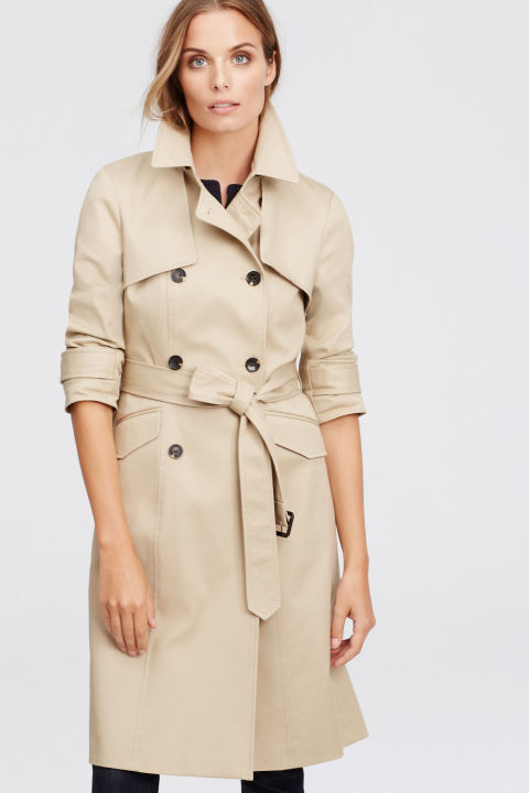 ann taylor classic trench coat