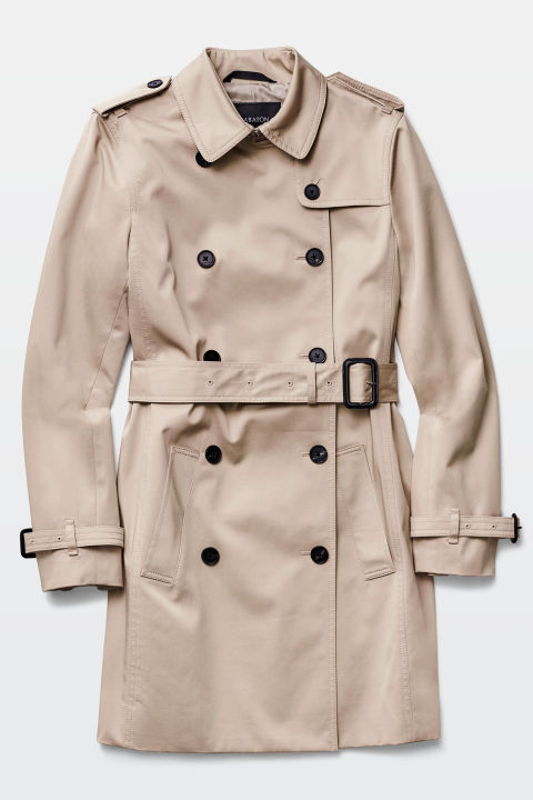 babaton oliver trench coat in tawny
