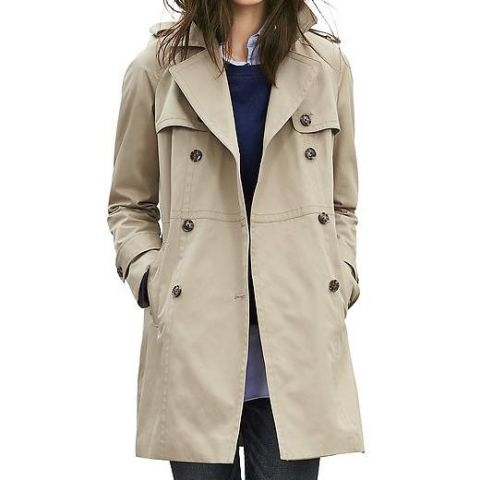 banana republic double breasted trench coat