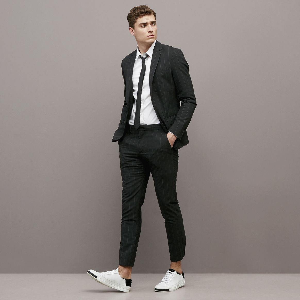 Mens Skinny Fit Suits Dress Yy