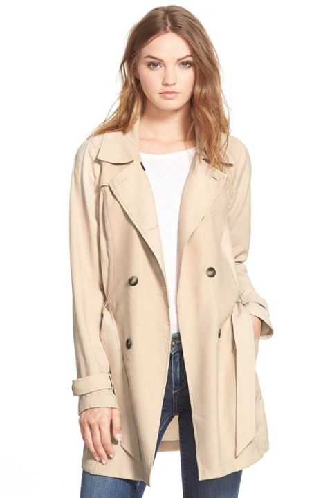 ella moss candice trench coat in khaki