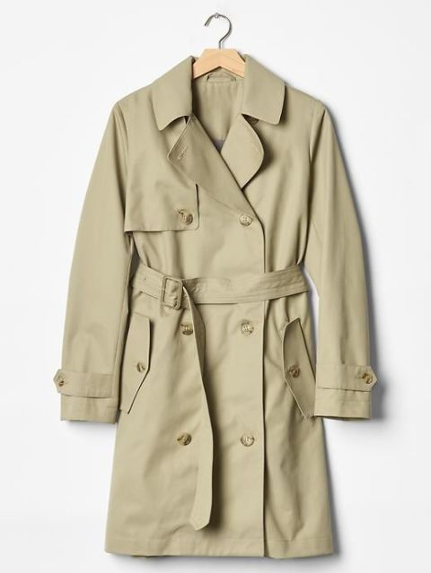 gap classic chino academy trench