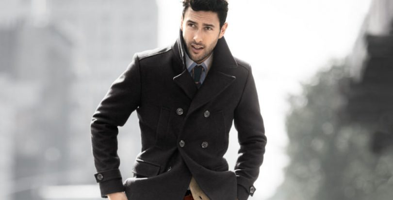 Buy mens black peacoat