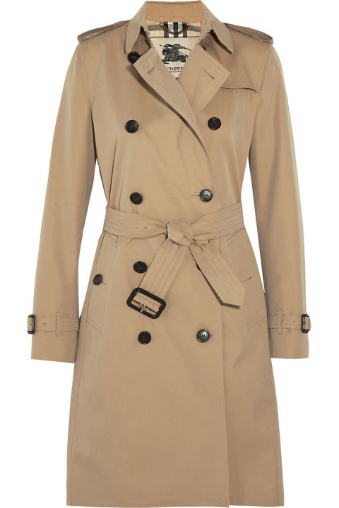 kensington long cotton gabardine burberry trench coat