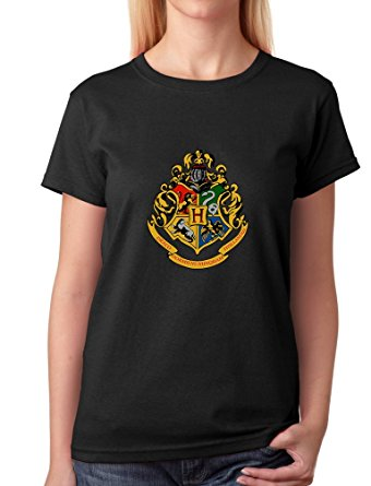 harry potter hogwarts logo womens t-shirt