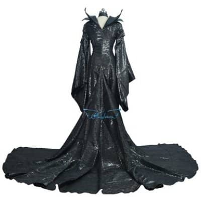 Maleficent Costume Horns Wings And Makeup