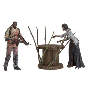 the-walking-dead-tv-morgan-jones-with-impaled-walker-and-spike-trap-deluxe-box-action-figure