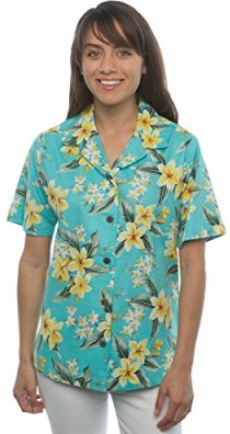 Hawaiian Shirt Floral Plumeria and Orchids