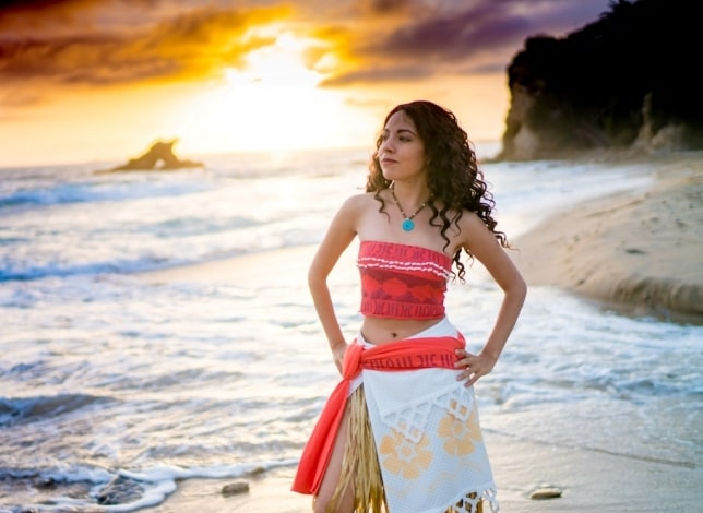 Moana Costume Wig Necklace Dress And More