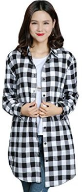 Flannel shirts ultimate styles to wear this season for White and black flannel shirt womens