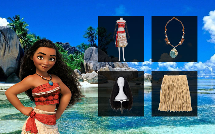 Moana costume wig necklace dress and more moana costume diy guide to fictionalize your personality solutioingenieria Gallery