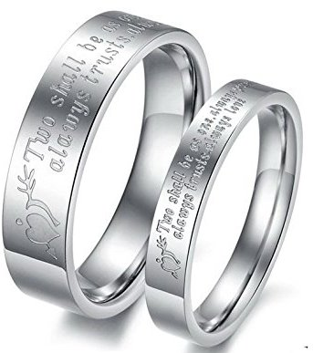Couple Engraved Lover's Ring