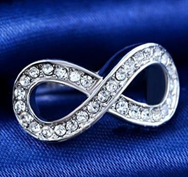 Crystal Infinity Friendship Rings