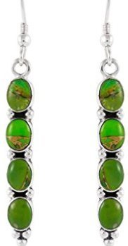 earrings-with-green-turquoise