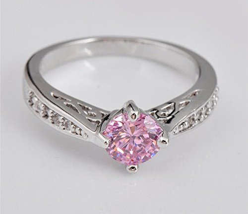 Female Pink Promise White Ring