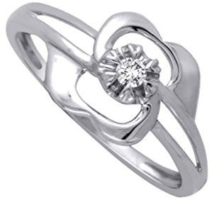 Floral Diamond Promise Ring