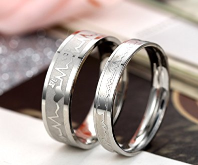 Frequency Heart beat band Promise Ring