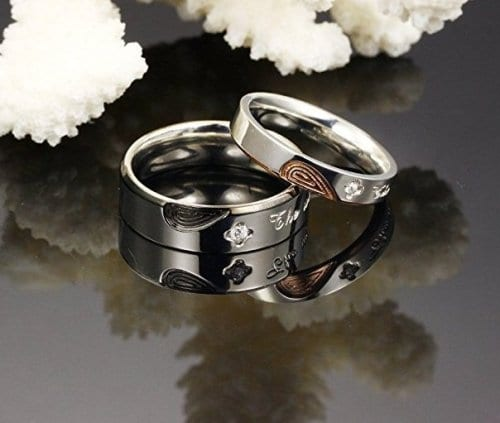 Half Heart Matching Ring