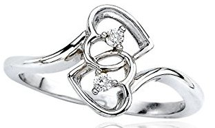 Hart Promise Ring Sterling Silver