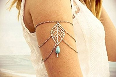 metal-turquoise-bead-upper-arm-armlet-tassels-chain