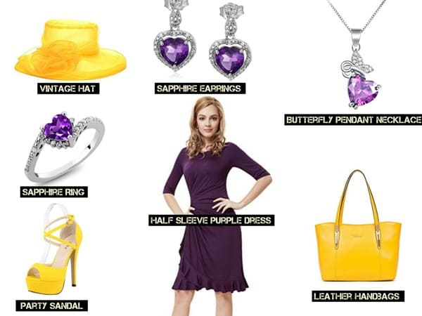 PURPLE SAPHIRE Matching Dress and Accessories