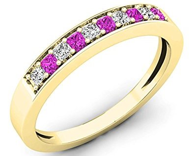 Pink Diamond Ladies Wedding Ring