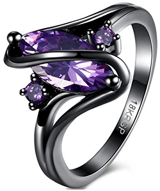 Purple Shape wedding band