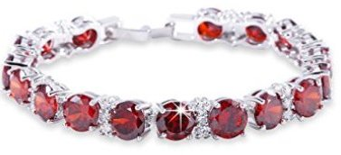 red-ruby-color-bracelet-party-jewelry