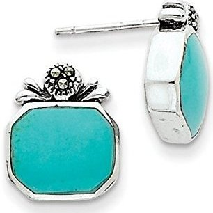 silver-turquoise-earrings