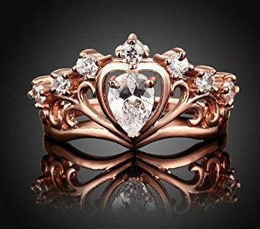 Tiara Heart Princess Crown Ring
