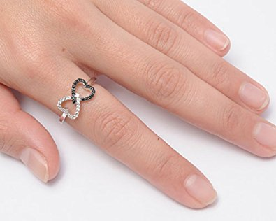 Twist Heart Infinity Ring
